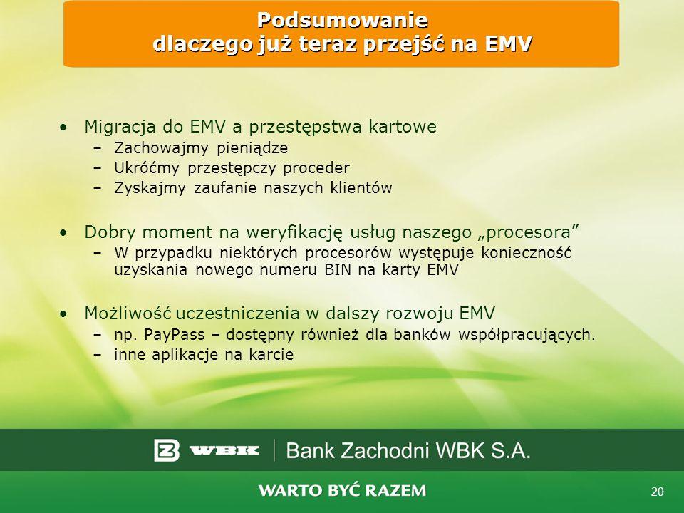 Podsumowanie dlaczego już teraz przejść na EMV