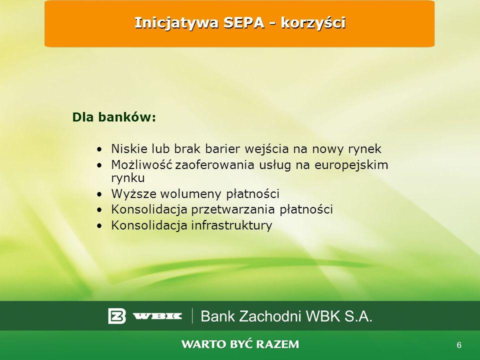 Inicjatywa SEPA - korzyści