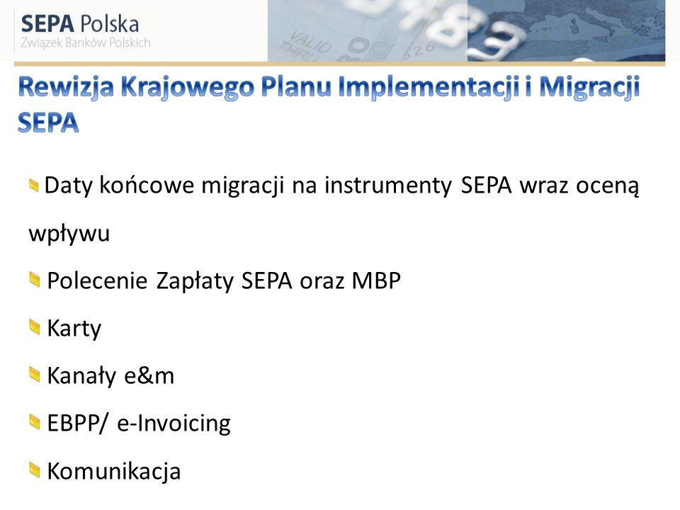 Rewizja Krajowego Planu Implementacji i Migracji SEPA