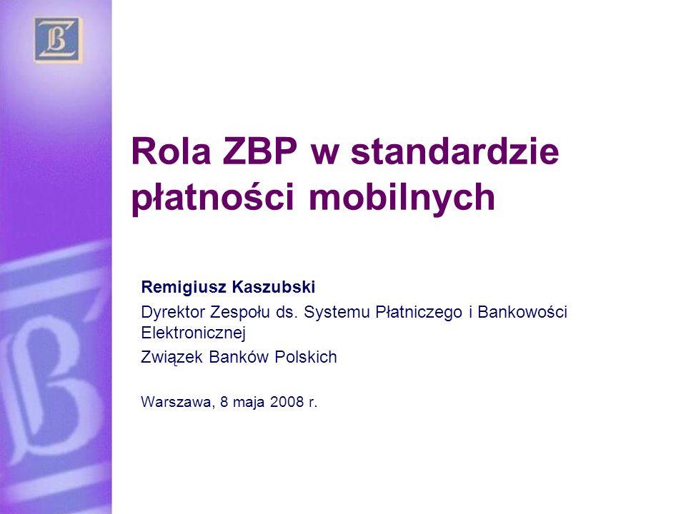 Rola ZBP w standardzie płatności mobilnych