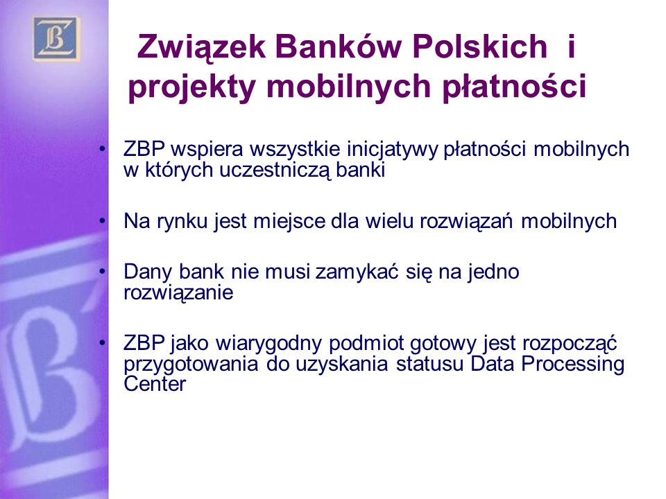 Związek Banków Polskich i projekty mobilnych płatności