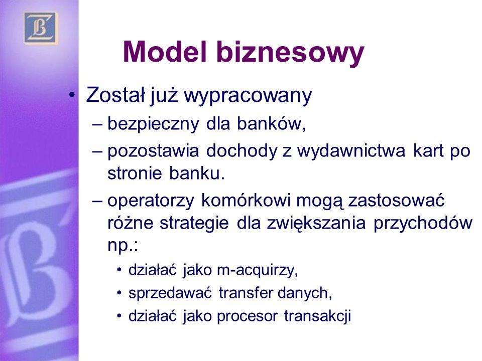 Model biznesowy Został już wypracowany bezpieczny dla banków,