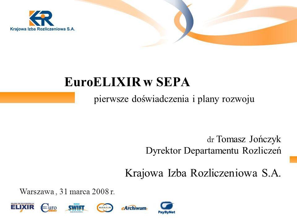 EuroELIXIR w SEPA pierwsze doświadczenia i plany rozwoju
