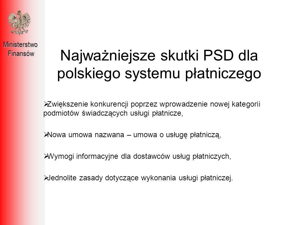 Najważniejsze skutki PSD dla polskiego systemu płatniczego