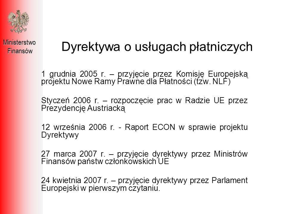 Dyrektywa o usługach płatniczych