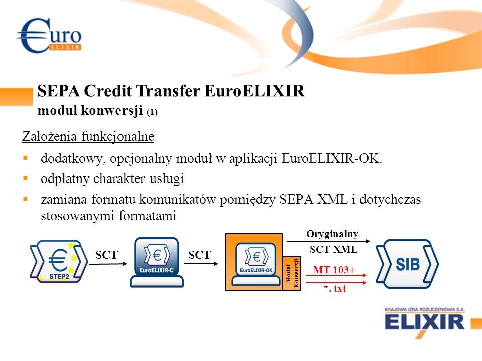 SEPA Credit Transfer EuroELIXIR moduł konwersji (1)