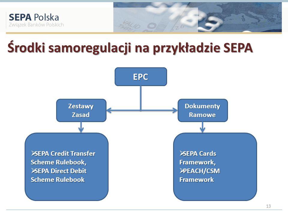 Środki samoregulacji na przykładzie SEPA
