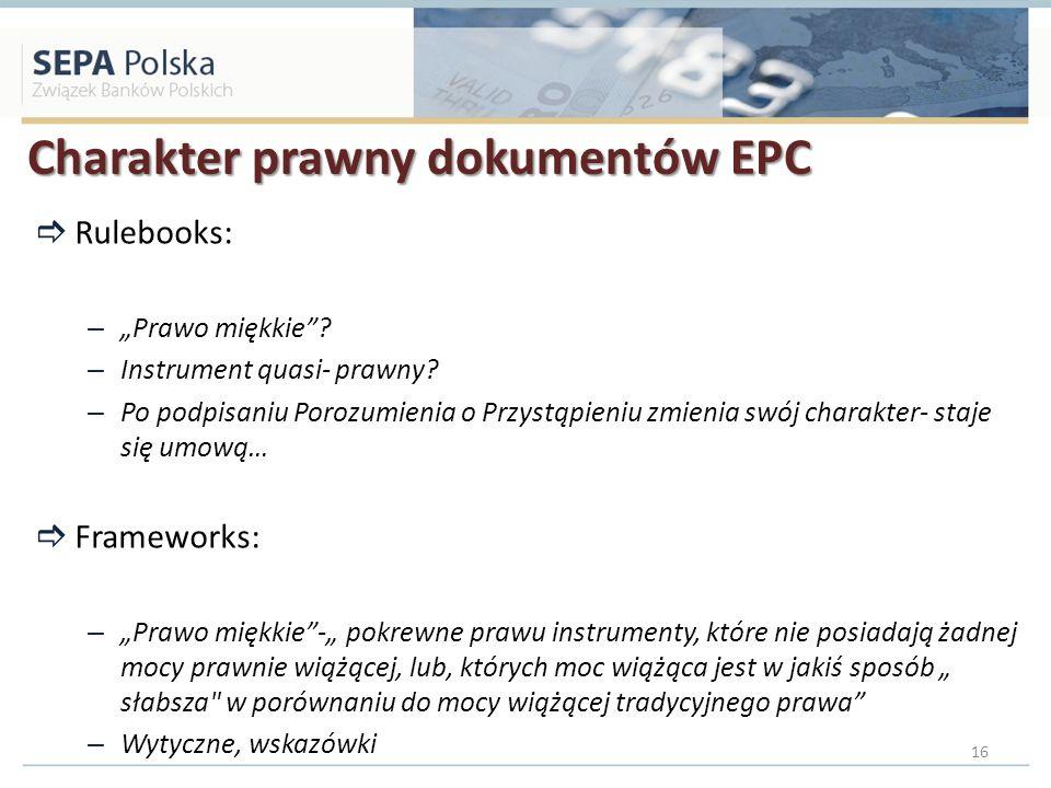 Charakter prawny dokumentów EPC
