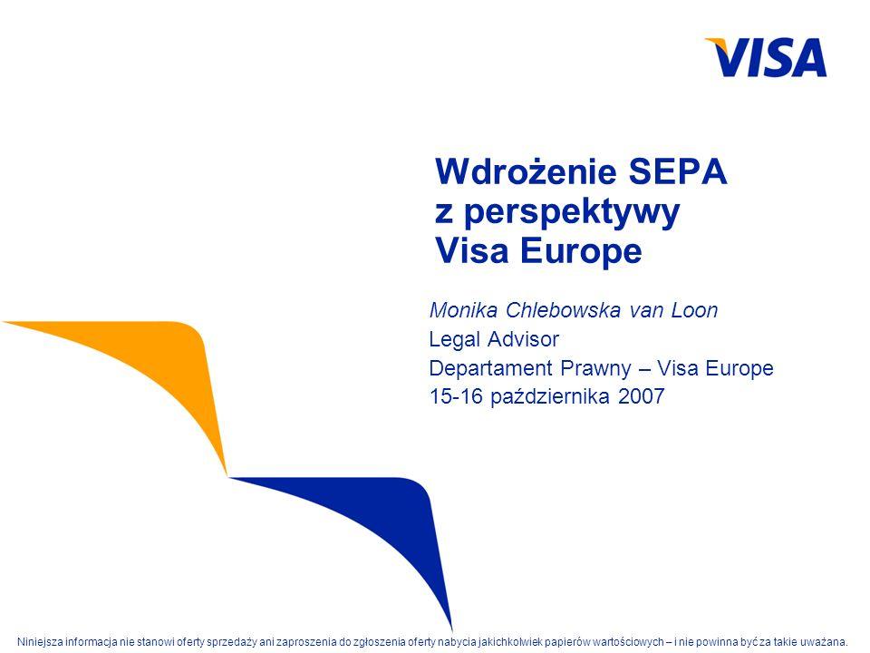 Wdrożenie SEPA z perspektywy Visa Europe