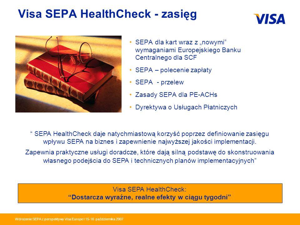 Visa SEPA HealthCheck - zasięg