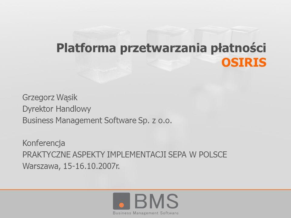 Platforma przetwarzania płatności OSIRIS