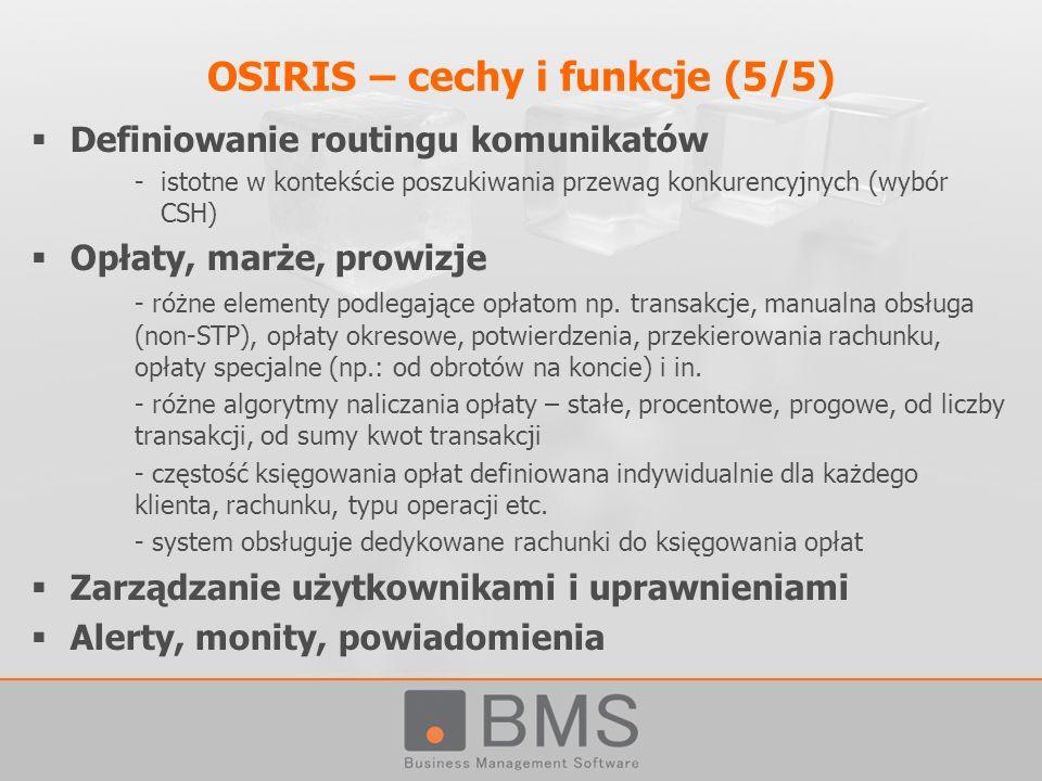 OSIRIS – cechy i funkcje (5/5)
