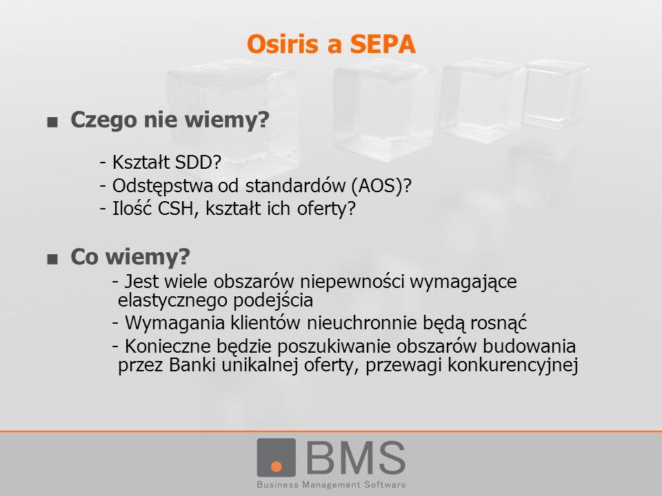 Osiris a SEPA Czego nie wiemy Co wiemy - Kształt SDD