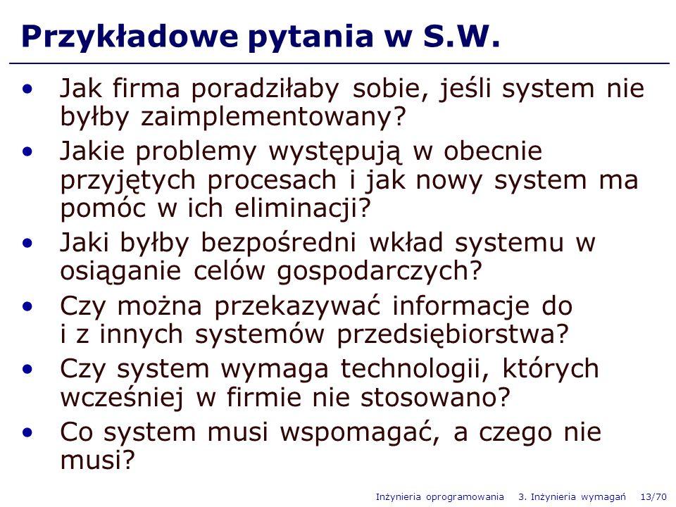 Przykładowe pytania w S.W.