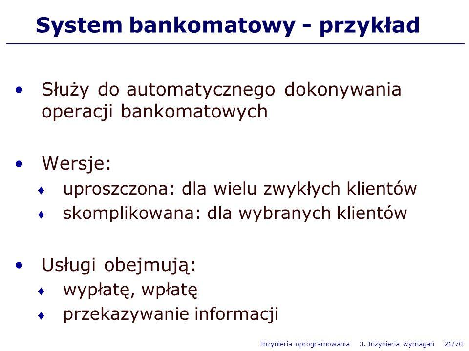 System bankomatowy - przykład