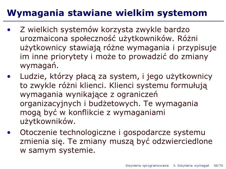 Wymagania stawiane wielkim systemom