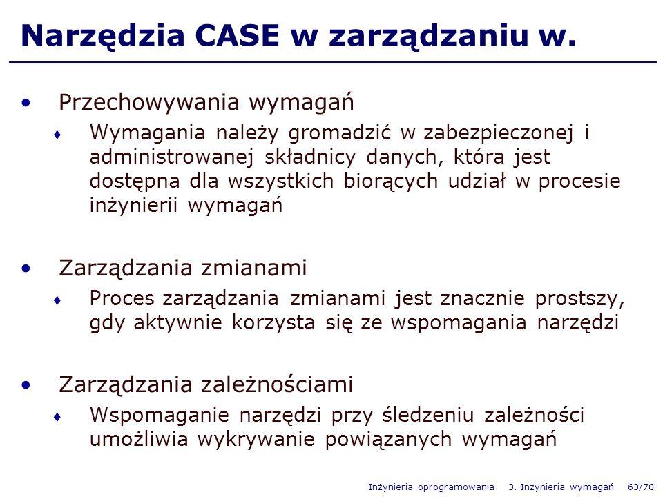 Narzędzia CASE w zarządzaniu w.