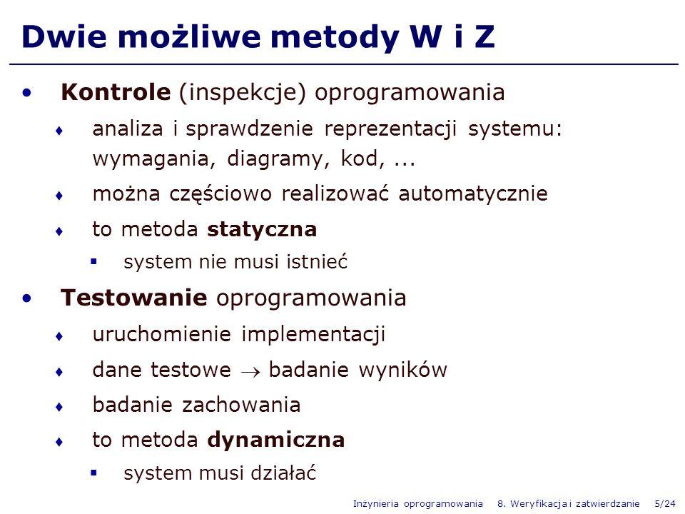Dwie możliwe metody W i Z