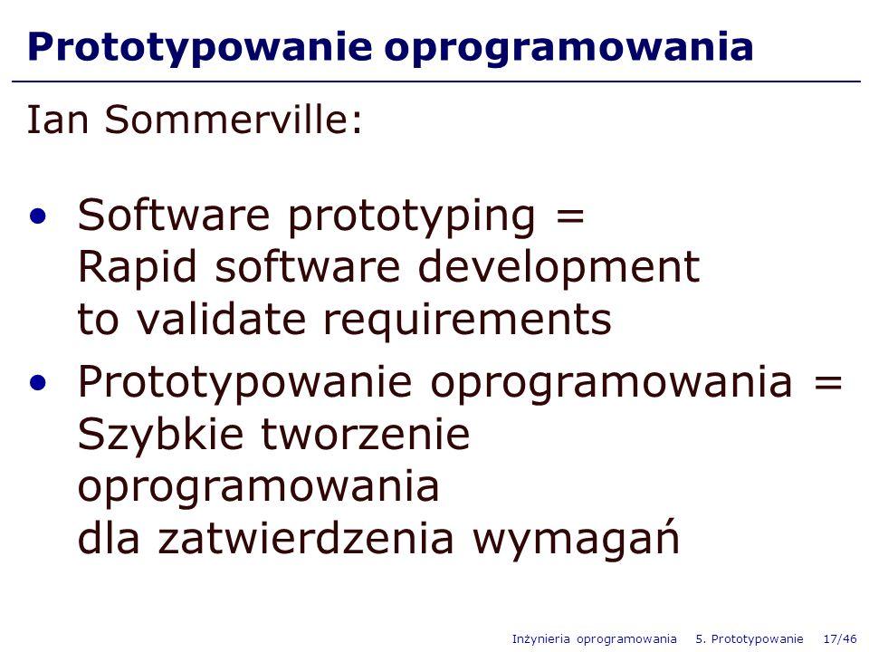 Prototypowanie oprogramowania