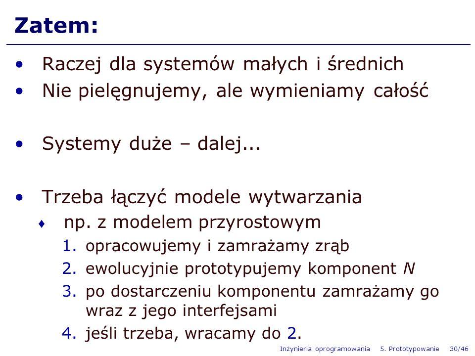 Zatem: Raczej dla systemów małych i średnich
