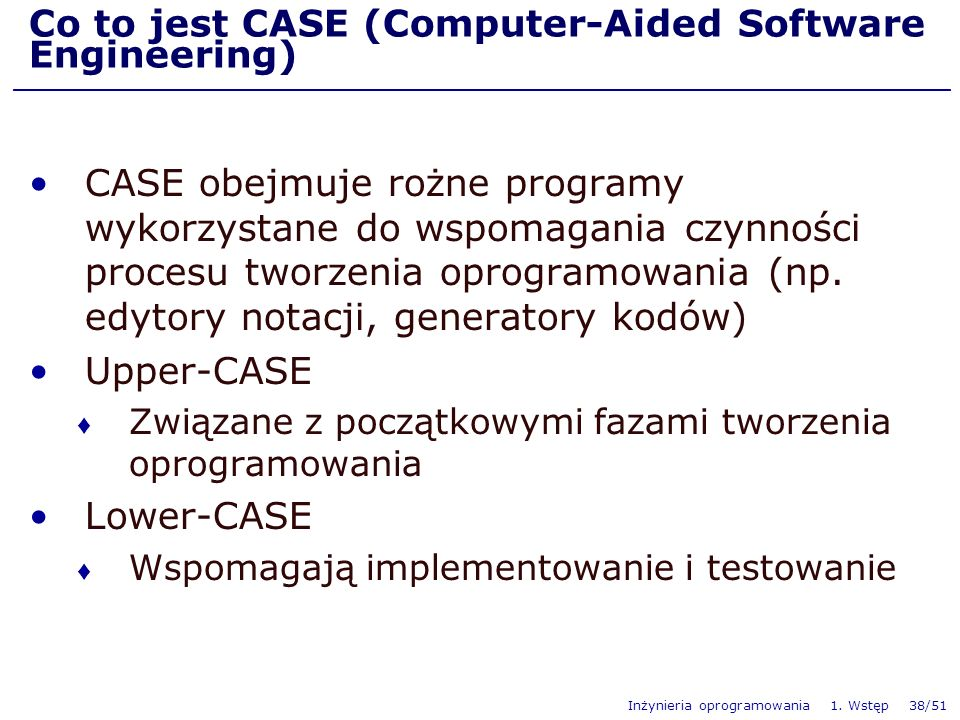 Co to jest CASE (Computer-Aided Software Engineering)
