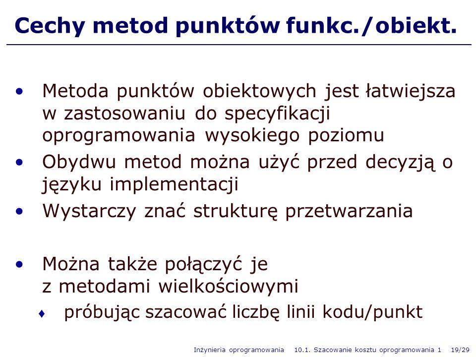 Cechy metod punktów funkc./obiekt.