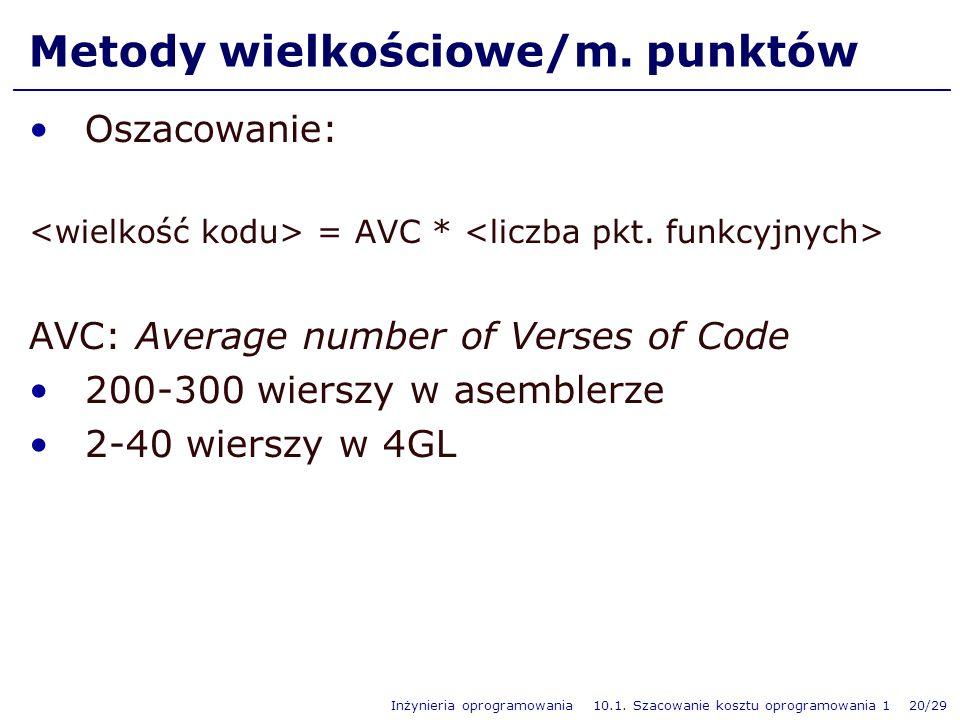 Metody wielkościowe/m. punktów