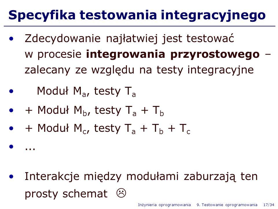 Specyfika testowania integracyjnego