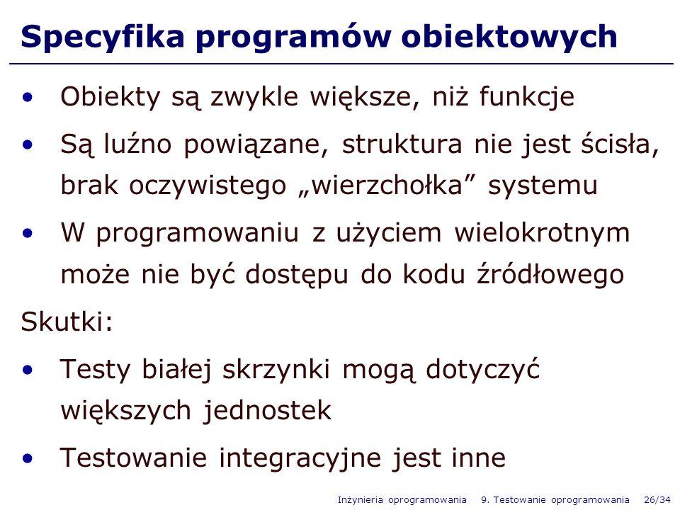 Specyfika programów obiektowych