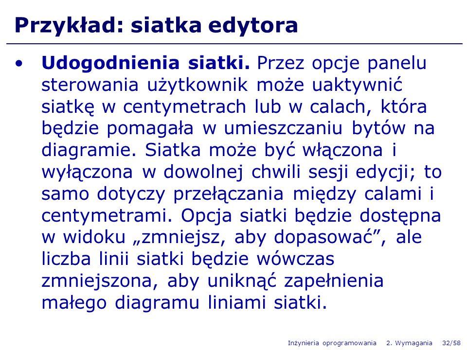 Przykład: siatka edytora