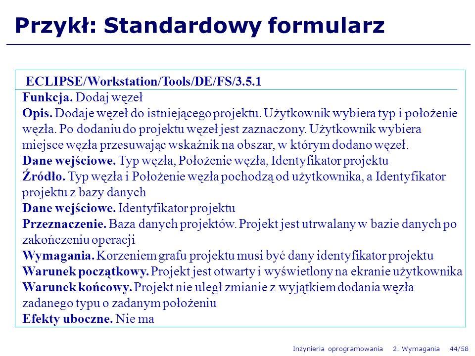 Przykł: Standardowy formularz