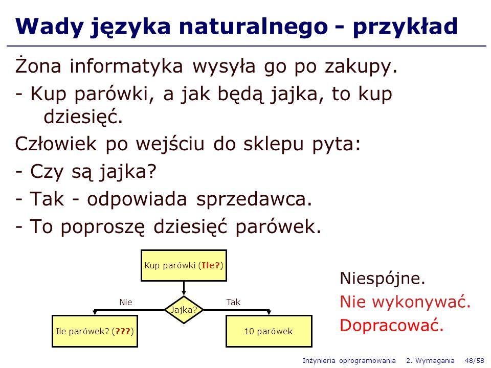Wady języka naturalnego - przykład