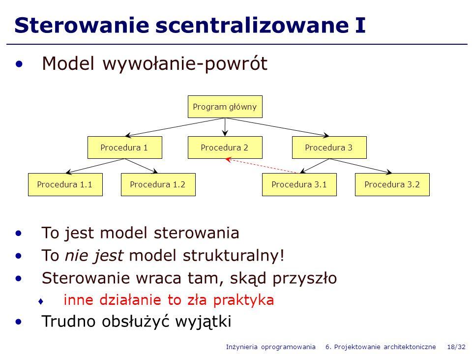 Sterowanie scentralizowane I