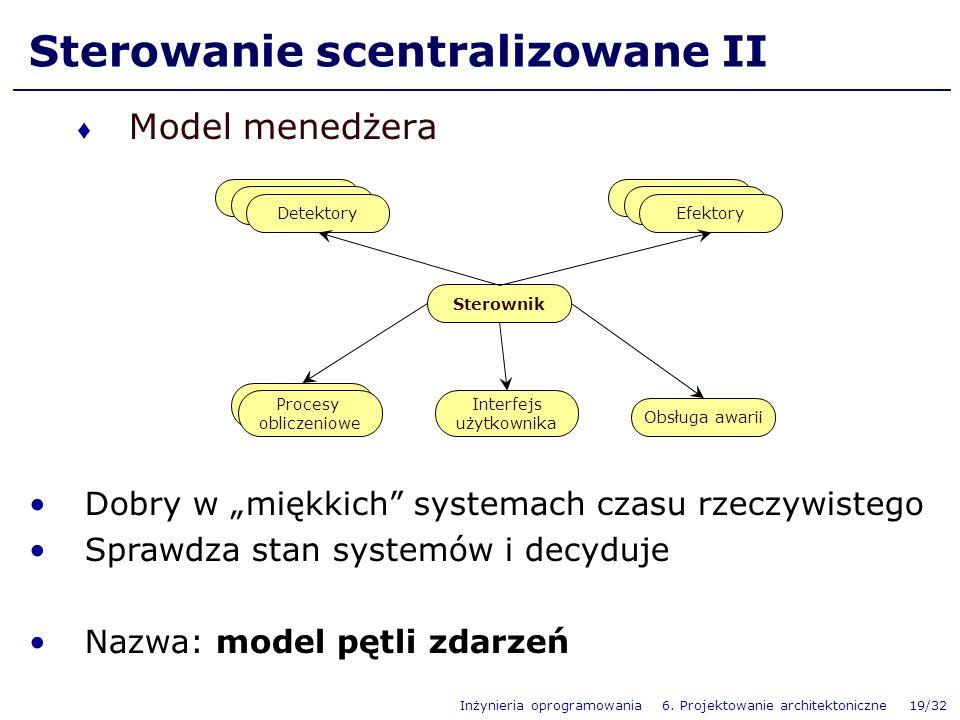 Sterowanie scentralizowane II