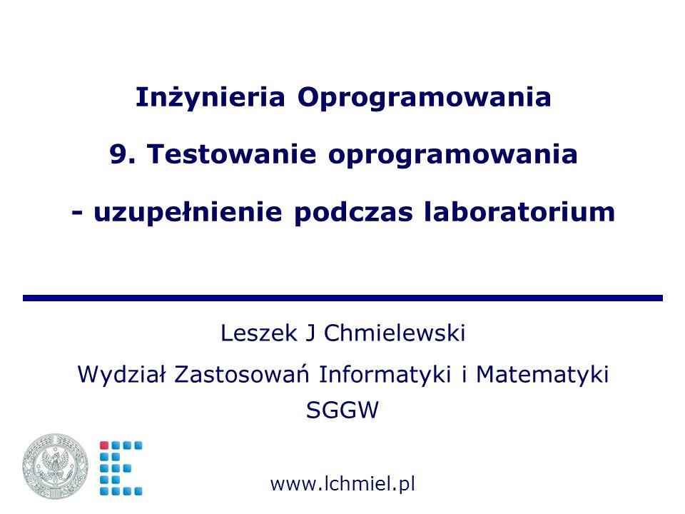 Wydział Zastosowań Informatyki i Matematyki SGGW