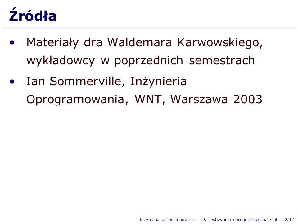 ŹródłaMateriały dra Waldemara Karwowskiego, wykładowcy w poprzednich semestrach.