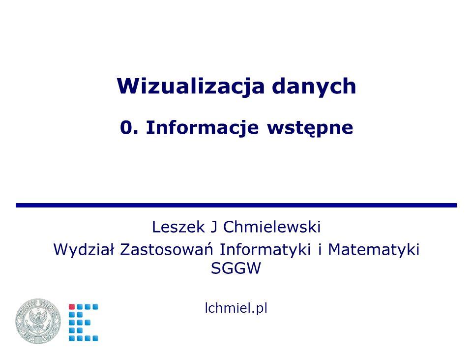 Wizualizacja danych 0. Informacje wstępne
