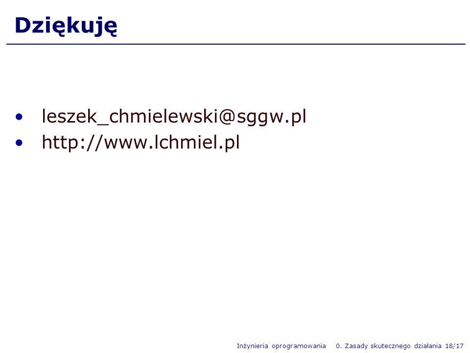 Dziękuję leszek_chmielewski@sggw.pl http://www.lchmiel.pl