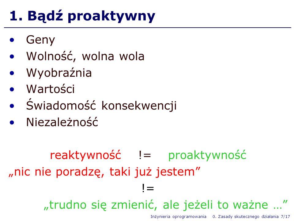 reaktywność != proaktywność