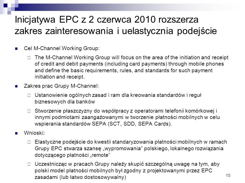 Inicjatywa EPC z 2 czerwca 2010 rozszerza zakres zainteresowania i uelastycznia podejście