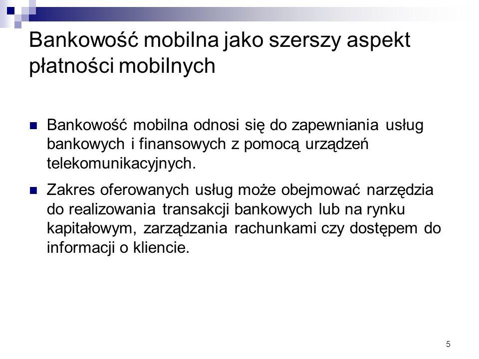 Bankowość mobilna jako szerszy aspekt płatności mobilnych