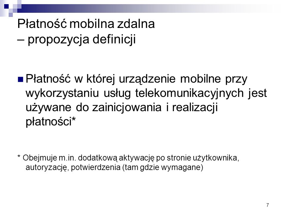Płatność mobilna zdalna – propozycja definicji