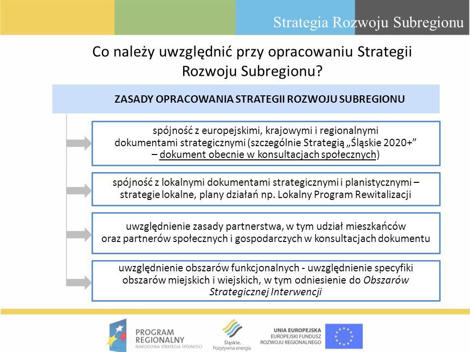 Co należy uwzględnić przy opracowaniu Strategii Rozwoju Subregionu