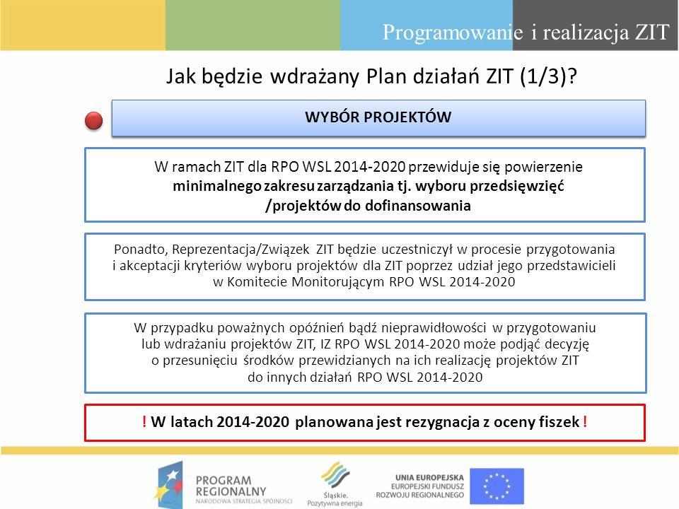 Jak będzie wdrażany Plan działań ZIT (1/3)