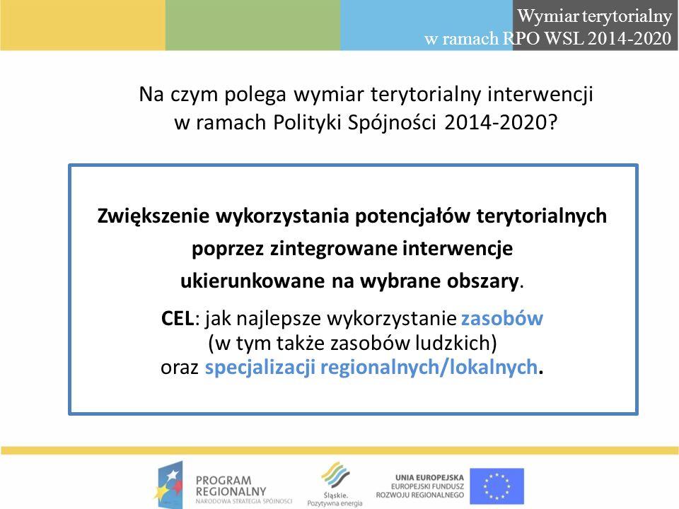Wymiar terytorialny w ramach RPO WSL 2014-2020