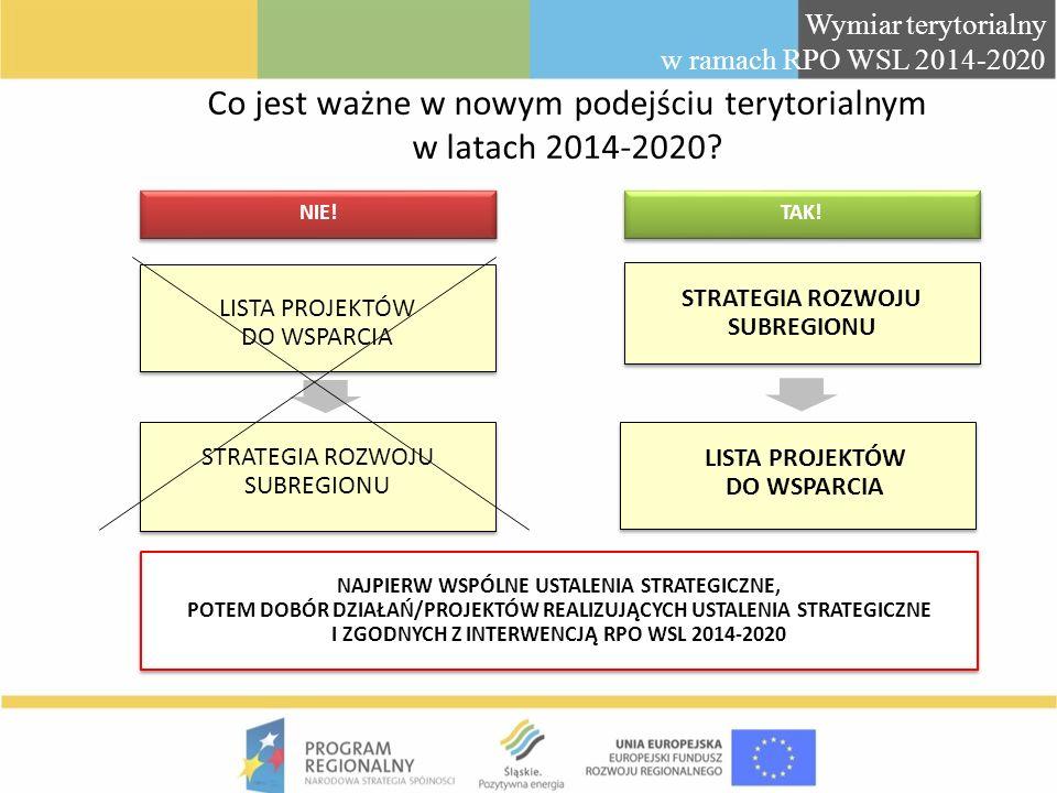 Co jest ważne w nowym podejściu terytorialnym w latach 2014-2020
