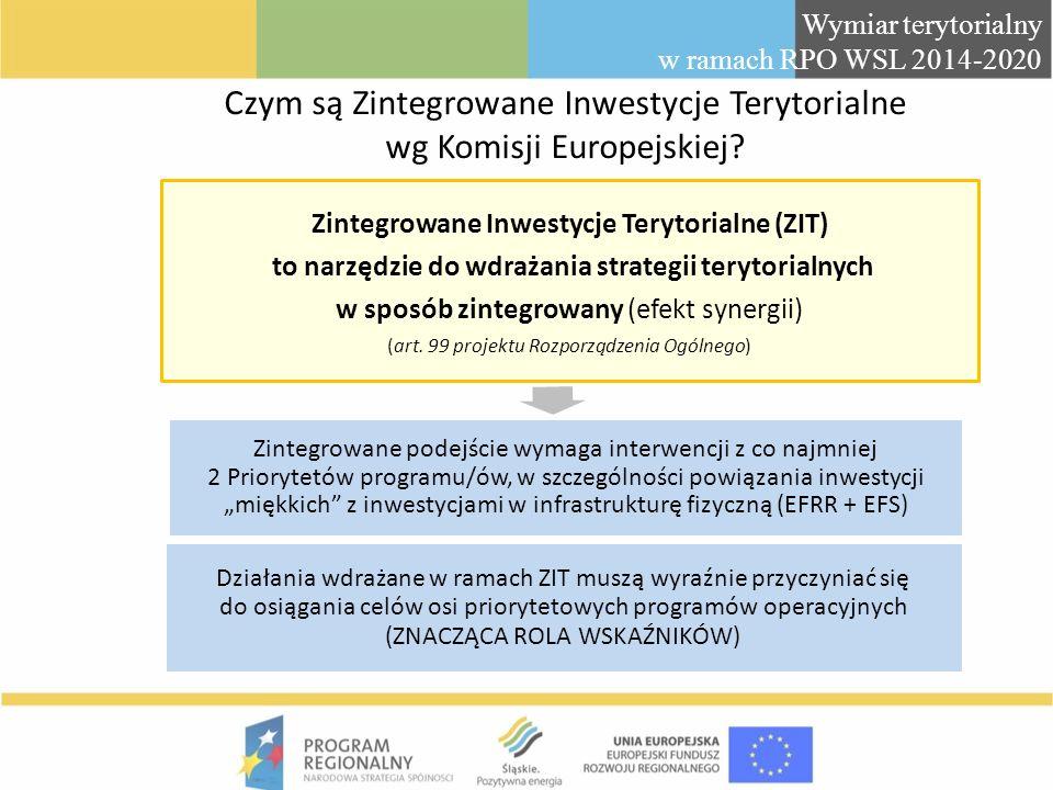 Czym są Zintegrowane Inwestycje Terytorialne wg Komisji Europejskiej