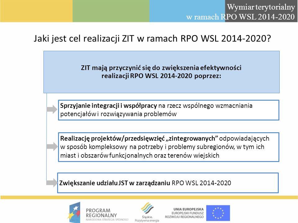 Jaki jest cel realizacji ZIT w ramach RPO WSL 2014-2020