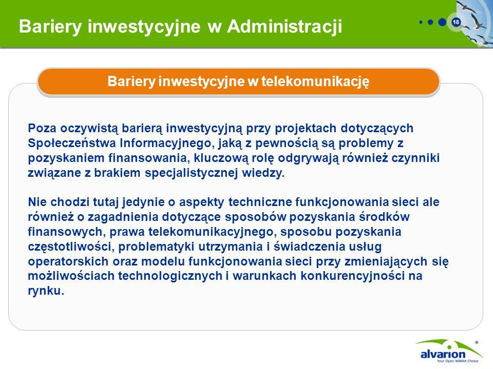 Bariery inwestycyjne w Administracji