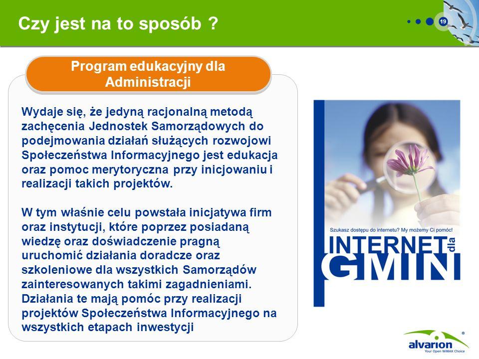 Program edukacyjny dla Administracji